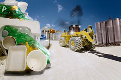 Disposing of waste Royalty Free Stock Photo