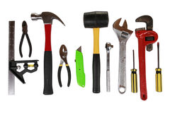 Disposição de ferramentas isoladas Imagem de Stock Royalty Free