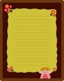 Disposição de página do livro de nota Imagem de Stock