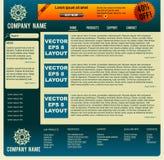Disposição do Web do vetor Foto de Stock