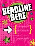 Disposição ideal cor-de-rosa do anúncio Fotos de Stock