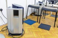 Dispositif à haute tension de thérapie d'électron avec la feuille d'isolation photo libre de droits