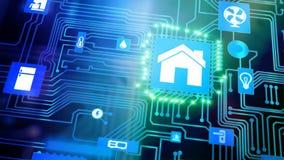 Dispositif à la maison intelligent - contrôle à la maison illustration libre de droits