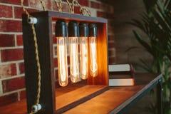 Dispositif avec les lampes à incandescence ovales Photographie stock libre de droits
