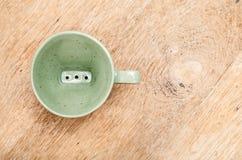 Dispositif d'écoulement vert Photographie stock