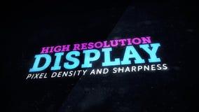 Dispositif d'affichage de haute résolution pointu Photos libres de droits