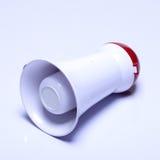 Dispositif de haut-parleur de mégaphone, couleur rouge blanche, aucun logo Photo libre de droits