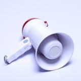 Dispositif de haut-parleur de mégaphone, couleur rouge blanche, aucun logo Images stock