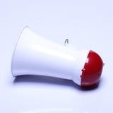 Dispositif de haut-parleur de mégaphone, couleur rouge blanche, aucun logo Photographie stock libre de droits