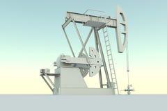 Dispositif de pompage de gisement de pétrole illustration stock