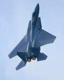 Dispositif de post-combustion d'avion à réaction de l'aigle F15 Images stock