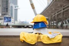 dispositif de protection d'ingénieur au chantier de construction Photo libre de droits