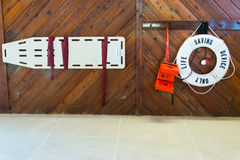 Dispositif de protection de sauvetage de piscine image stock
