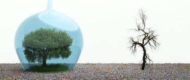 Dispositif de protection de l'environnement illustration libre de droits