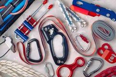 Dispositif de protection personnel employant en s'élevant photos stock