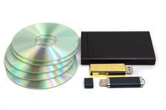 Dispositif de stockage de stockage de données Images stock