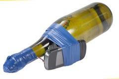 Dispositif explosif improvisé avec le cocktai de Molotov images stock