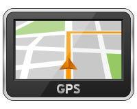 Dispositif générique de navigation de GPS Photographie stock libre de droits