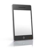 Dispositif intelligent élégant de téléphone d'écran tactile Photo libre de droits