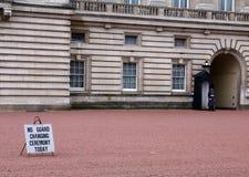 Dispositif protecteur au Palais de Buckingham Photo stock