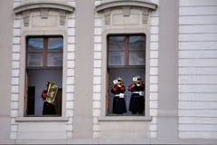 Dispositif protecteur d'honneur de château de Prague Images stock
