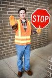 Dispositif protecteur de croisement à l'école Image libre de droits