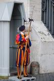 Dispositif protecteur pontifical de Suisse Images libres de droits