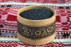 Dispositif trembleur de sel de Chetvergova d'écorce de bouleau Photos stock