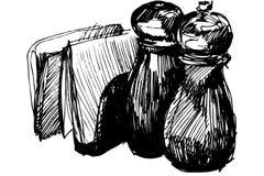 Dispositif trembleur et serviette de poivre Photo libre de droits
