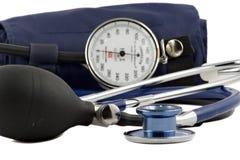 Dispositif utilisé pour contrôler la sang-pression d'isolement Image libre de droits