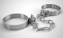 Dispositifs d'accrochage en métal, sur le fond gris Images stock