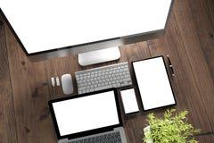 dispositifs de bureau en bois photo libre de droits
