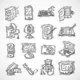 Dispositifs de Digital réglés illustration libre de droits