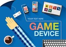 Dispositifs de jeu Illustration plate de vecteur de couleur Photo libre de droits