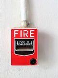 Dispositifs de lancement conventionnels, stations de traction d'alarme d'incendie images libres de droits