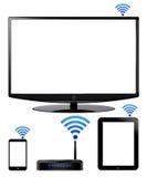 Dispositifs de réseau sans fil Photos libres de droits