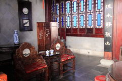 Dispositifs de salon de style chinois image libre de droits