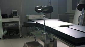Dispositifs médicaux modernes de table d'opération, chariot de salle d'opération photographie stock