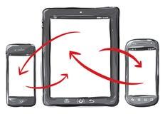 Dispositifs mobiles Photo stock