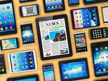 Dispositifs mobiles Photographie stock libre de droits