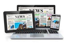 Dispositifs mobiles de medias Image stock