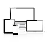 Dispositifs modernes de tehnology réglés Images libres de droits