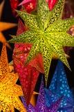 Dispositifs multicolores faits de parchemin Images stock