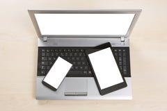 Dispositifs multiples de smat photo libre de droits