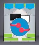 Dispositifs numériques de brochure moderne Photos libres de droits