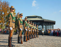 Dispositifs protecteurs d'honneur à Budapest, Hongrie Image libre de droits