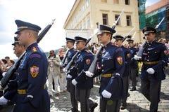 Dispositifs protecteurs de château de Prague Photos stock