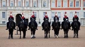 Dispositifs protecteurs royaux de Londres sur des chevaux Photos libres de droits