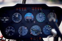 Dispositifs sur l'hélicoptère à télécommande Macro photographie stock