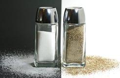 dispositifs trembleurs de sel de poivre Image libre de droits